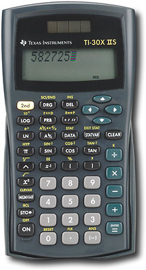 The TI-30X IIS Scientific  Calculator. Courtesy of www.ti.com