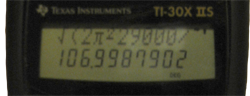 Two Line Display On The TI-30X IIS.