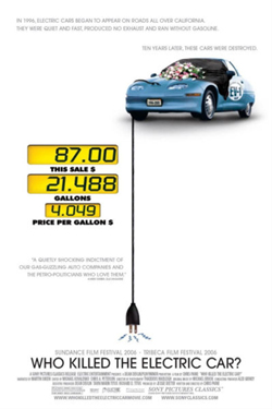 Movie Poster Who Killed the Electric Car