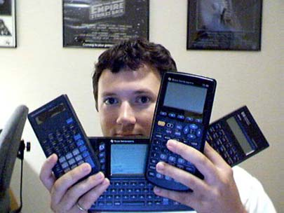 L to R - TI-35X, TI-92, TI-89, and HP 20s