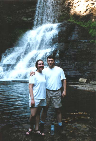 Angela and I at the Cascades Falls