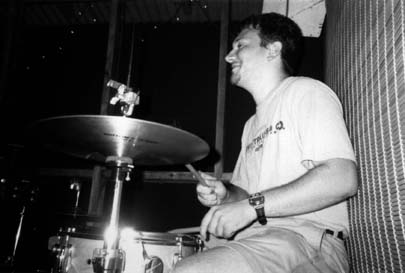 Playing drums with Dave Coleman