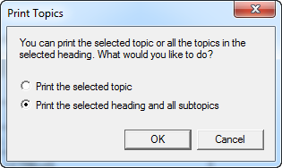 Print Topic dialog in HTML Help Viewer