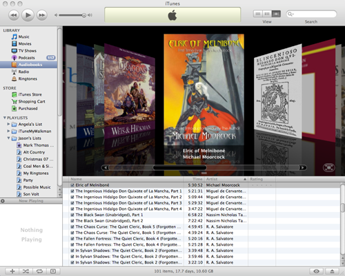 my fantasy audiobook collection in iTunes