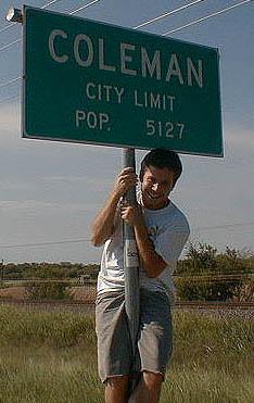 Jason Coleman(.org) near a small town named Coleman