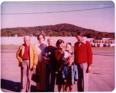 LtoR: Grandparents Cicero & Edith, Grandmom Ruth, Mom, Me, Stephen, Granddad Carroll