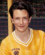 My high school soccer photo