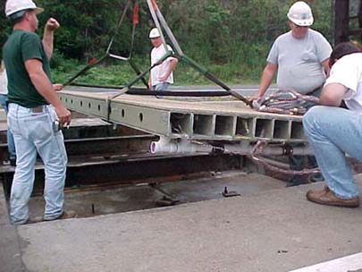 Placing The Deck at the Field Site