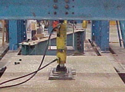 Actuator Applying Load To Deck