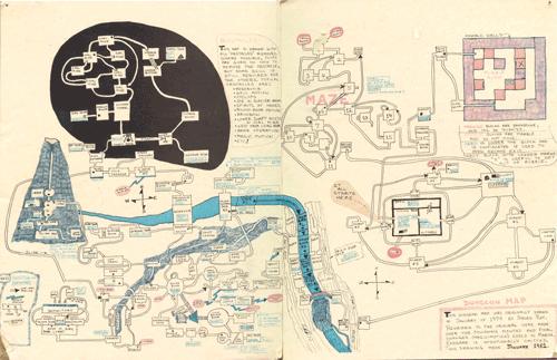 Hand drawn map of Zork I
