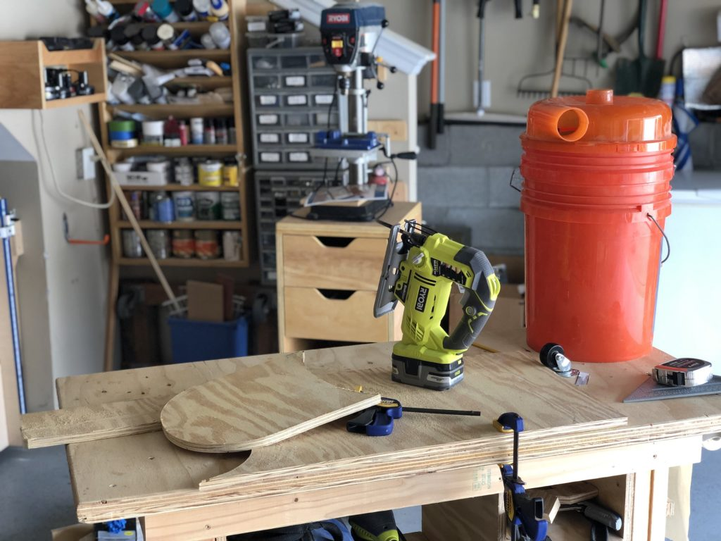 Plywood cut to fit bucket